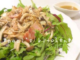 茸のサラダ(o^o^o)バター醤油風味♪