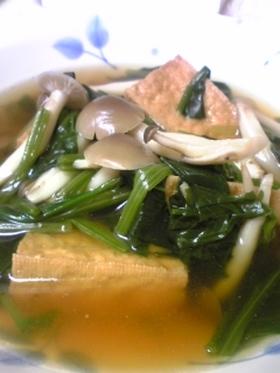 小松菜と厚揚げの煮びたし☆