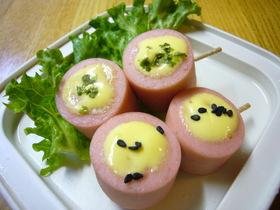 お弁当に!おさかなのソーセージのマヨ焼!