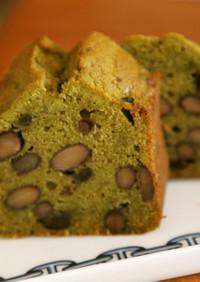 抹茶と黒豆の米粉パウンドケーキ