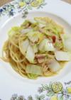 白菜とツナの和風ペペロンチーノ