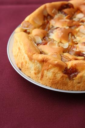 キャラメル林檎チーズケーキ