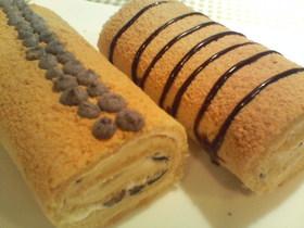 ほうじ茶ときな粉のロールケーキ