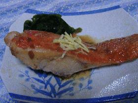 金目鯛と梅の煮付け