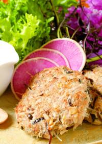 奈良県産豚肉のアジアン風ハンバーグ