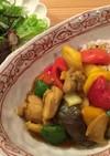 カラーピーマンと鶏肉の簡単カレー