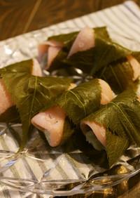【美的ラボ】ヒスイ色桜餅/関東風【青汁】