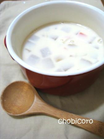 コロコロ野菜の みそ豆乳スープ
