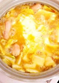 残ったカレーで簡単チーズカレー鍋♪