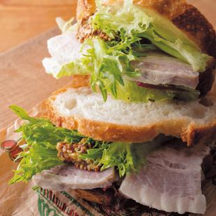 塩豚のサンドイッチ