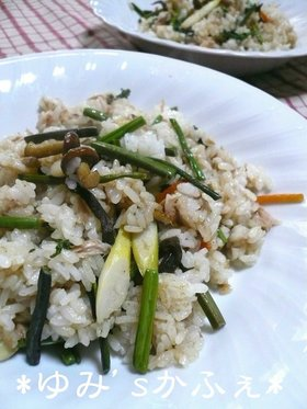 ササッとご飯♡ツナと山菜の炒飯