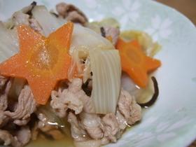 昆布茶で絶品!白菜と豚肉の煮物