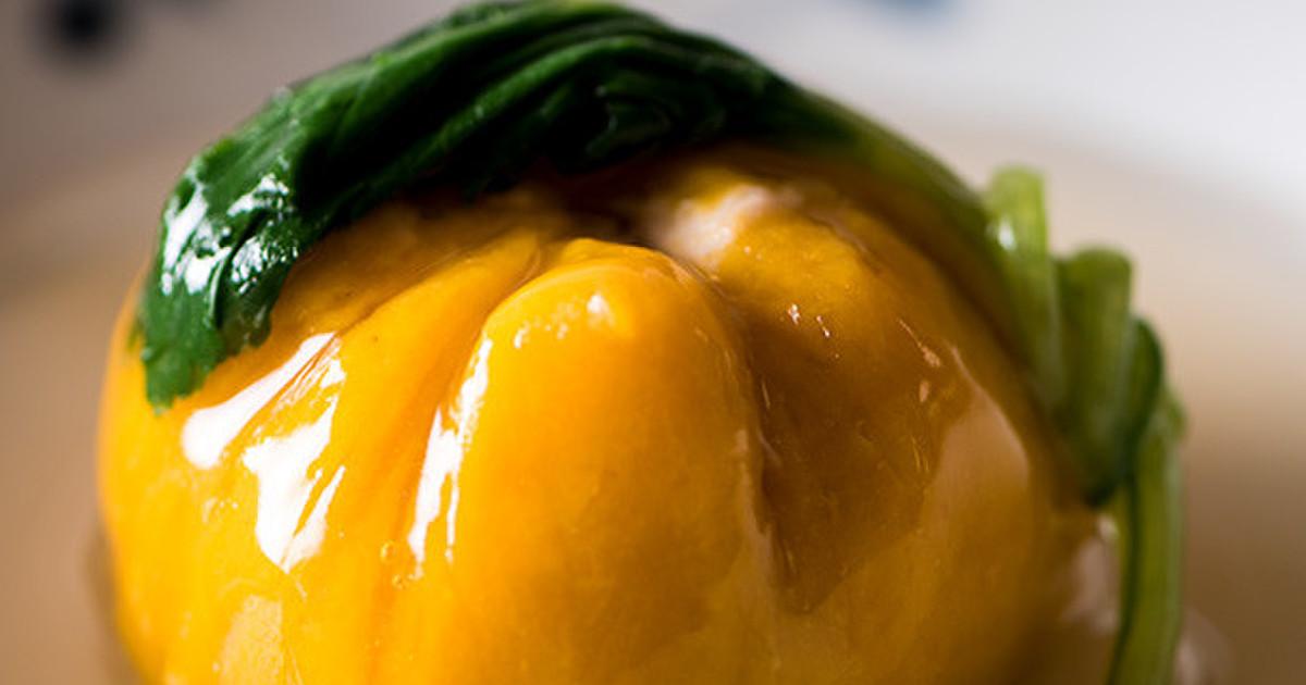 かぼちゃのひき肉つつみの白だしあんかけ by 久世福商店