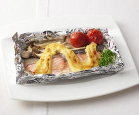 鮭とエリンギのマヨネーズ焼き