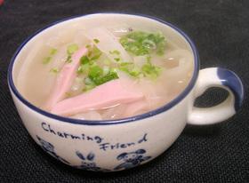 魚肉ソーセージ in 大根麺スープ