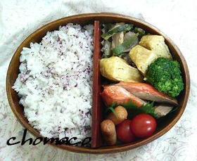 ちょま弁25.鮭&豚味噌炒め弁当