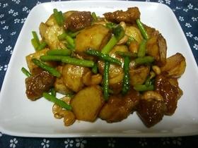 鶏肉とジャガイモの揚げ煮