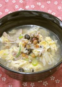 雑穀入りあったかたまごスープ