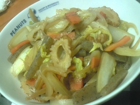 白菜とこんにゃくの炒め煮