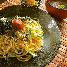 簡単!ランチ◎ツナと水菜の和風のパスタ