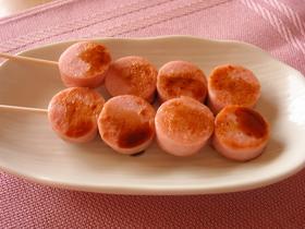 魚肉ソーセージ焼き(^・^)