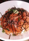 炙りサーモンのヅケ丼