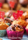 バレンタイン♥マシュマロ入りチョコケーキ