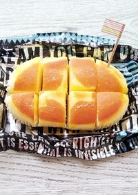市販チーズ蒸しパンが焼チーズケーキに♡