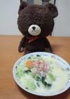 ベーコンと白菜等の簡単クリームスープ!☆