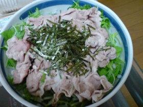 ピリ辛!水菜と豚肉のしゃぶしゃぶ風サラダ