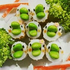 ちくわと枝豆のピヨピヨ隊♪お弁当♪簡単♪
