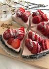 苺のヨーグルトレアチーズケーキ