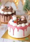 ピンクのグラサージュ♡ドリップケーキに♡