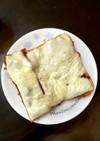 ミートソースの残りで簡単トースト