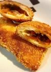 残ったタコミートと食パンで、カレーパン風