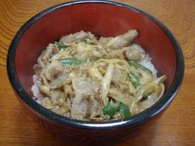 ボリューム満点☆豚味噌丼