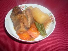 豚の角煮で簡単煮物