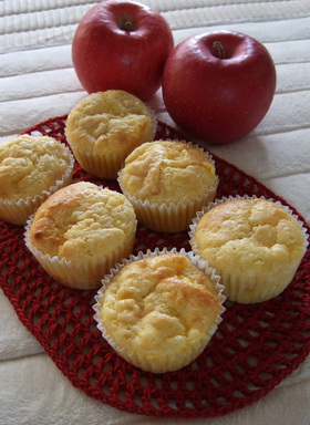 りんごとカスタードのカップケーキ