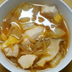 白菜ともやし鶏むね肉のスープ煮~和風味~