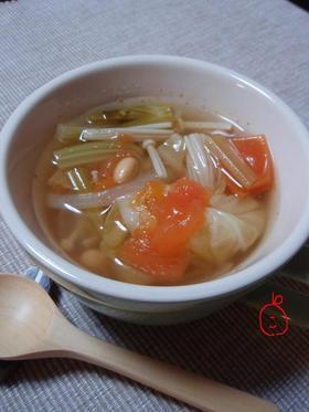 ほっこり野菜スープ。