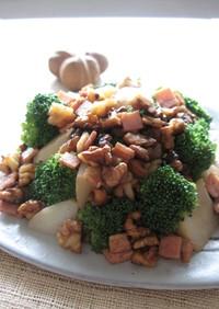 ブロッコリーとポテトの胡桃サラダ