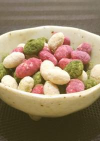 甘い可愛い3色豆菓子❤節分豆で作れるよ♪