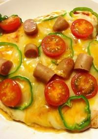 糖質制限中もOK!焼くだけ簡単チキンピザ