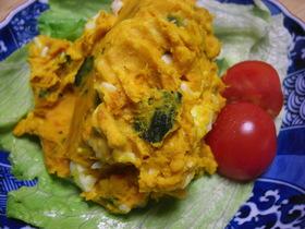 かぼちゃとゆで卵のサラダ♪