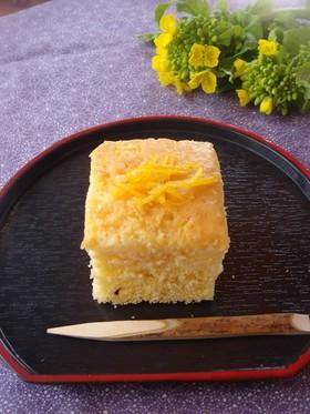 柚子の日本酒ケーキ