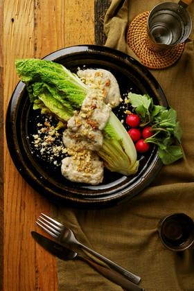白菜のグリル 酒粕バーニャカウダ風ソース