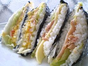 海苔でおにぎり?お寿司?サンドイッチ?