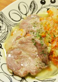 ひと鍋で簡単☆豚肉の白ワイン煮