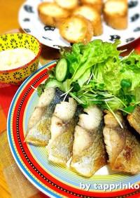 魚料理♡簡単フライパンdeサバのムニエル