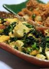 チキナーと島豆腐のチャンプルー